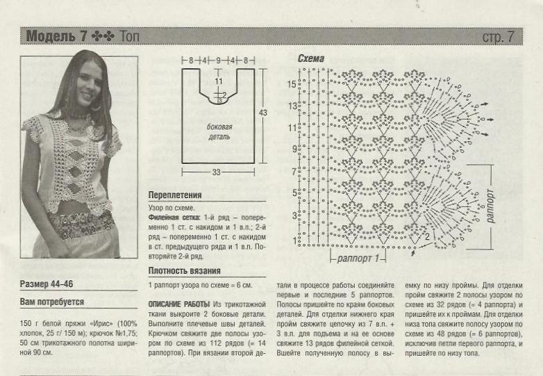 Комбинирование ткани и вязания спицами схемы 37